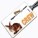 "Tiger Airways ""Crossed"" Crew Tag"